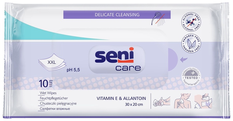 Seni Wet Wipes With Vitamin E & Allantion 10pcs