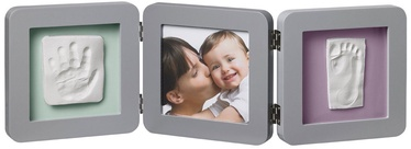 Baby Art Double Print Frame Grey