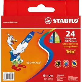 Stabilo Trio Triangular Oil Pastels 24pcs