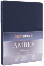 DecoKing Amber Bedsheet 100-120x200 Navy Blue