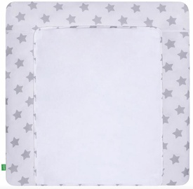Lulando Changing Table Mat Grey Stars On White 76x76cm