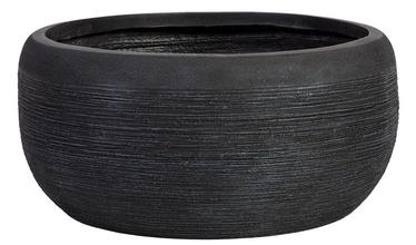 Home4you Flowerpot FLO-3 D30xH13.5cm Dark Grey