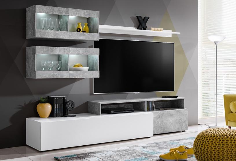 ASM Light Living Room Wall Unit Set White/Grey