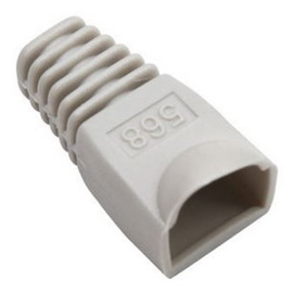 Intellinet Cable Boot For RJ45 Plugs Grey 10pcs