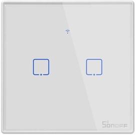 Nutikas puute seinaga WiFi-lüliti SONOFF T2EU2C-TX, 2 kanalit (Sonoff-pult pole komplektis)