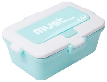 Must BPA Free Plastic Set 3in1 Lunch Box 950ml Green