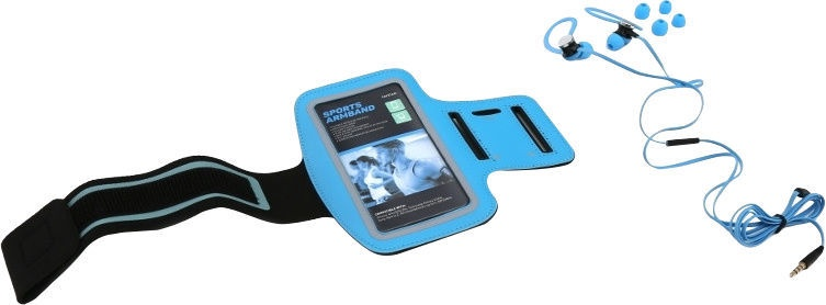 Platinet PM1070 Sport Headset Series + Armband Case Blue