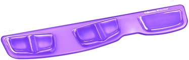 Fellowes Crystal Keyboard Palm Support Purple 9183601