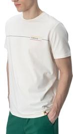 Audimas Cotton Tee With Print White XL