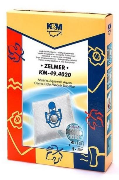 K&M Group Vacuum Cleaner Bags for Zelmer 4psc + Microfilter