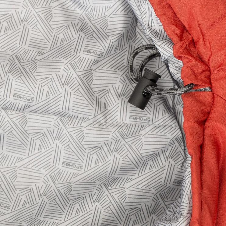 Magamiskott Spokey Shelter 922253 Light Red, parem, 230 cm