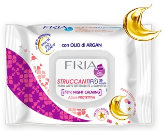 Fria Milk Cleanser With Argan Oil Wet Wipes 20pcs