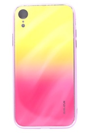 Evelatus Water Ripple Electroplating Back Case For Apple iPhone XR Yellow/Pink