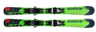 Elan Skis Alpine Skis Jett QS EL Green/Black 100cm