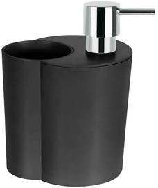 Spirella Soap Dispenser With Glass Sun&Moon Black