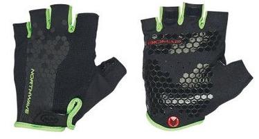Northwave Grip Short Gloves Black/Green XXL