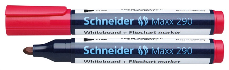Schneider Whiteboard And Flipchart Marker Maxx Red 290