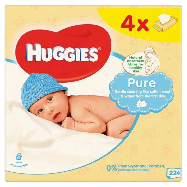 Huggies Pure 224pcs