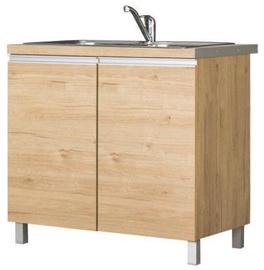 Нижний кухонный шкаф Bodzio Monia For Sink 90 Brown, 900x520x860 мм