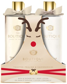 The English Bathing Company Boutique Toasted Praline & Snowberries 500ml Body Wash + 500ml Body Lotion