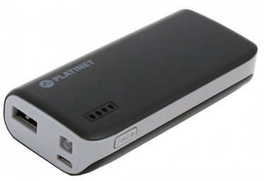 Platinet Power Bank + Torch 4400mAh Black/Grey