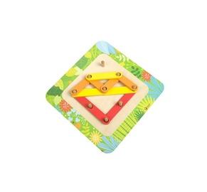 Hariv mänguasi, kolmnurk, puust
