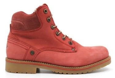 Wrangler Yuma Lady Fur Leather Winter Boots Red 38