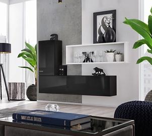ASM Blox SB IV Hanging Cabinet Set Black/White