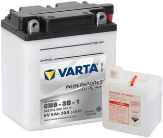 Аккумулятор Varta Powersports Freshpack SLI 6N6-3B-1, 6 В, 6 Ач, 30 а