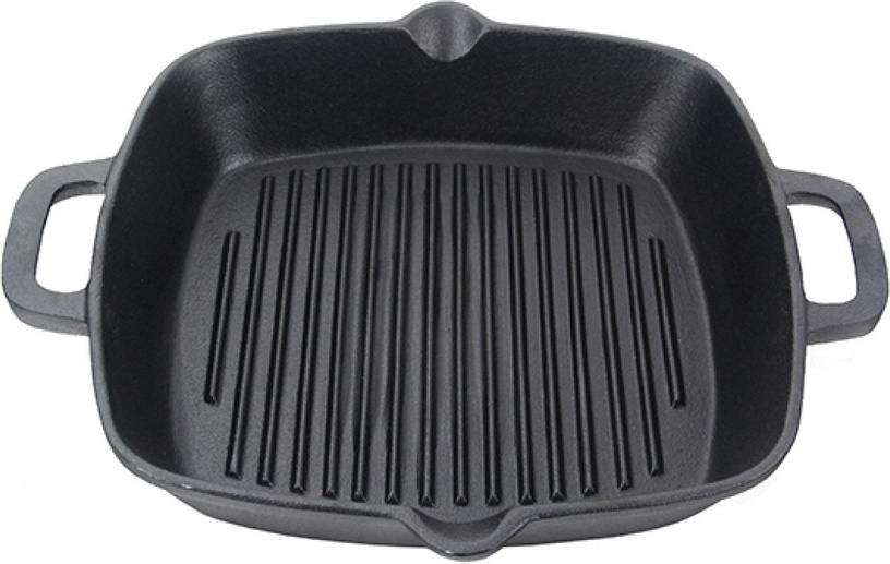 Fissman Grill Pan Cast Iron 26x5cm Square 4097