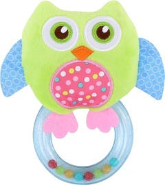 Lorelli Rattle With Ring Owl Green