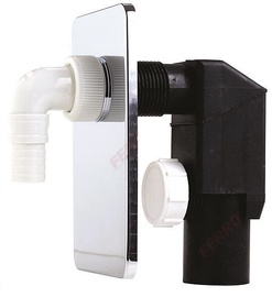 Ferro 460.0 DN40/50 Concealed Washing Machine Trap Chrome