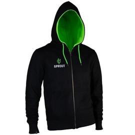 GamersWear Sprout Hoodie w/ Zip Black/Green S