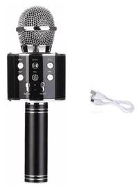 Микрофон караоке - динамик с эффектами изменения голоса WS-858, Черный