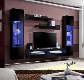 ASM Fly O13 Living Room Wall Unit Set Black