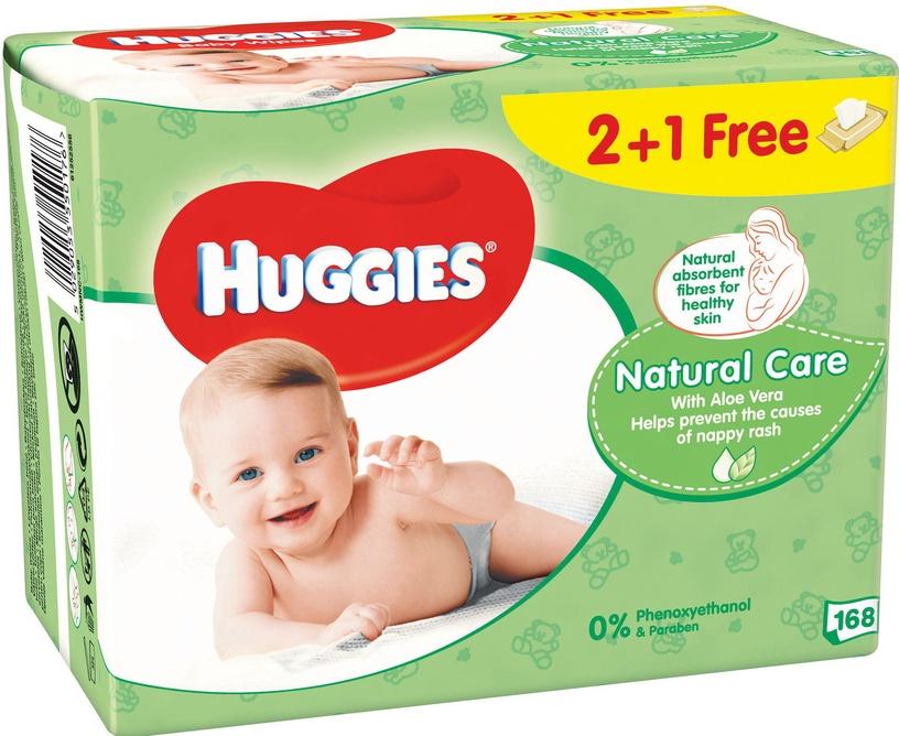 Huggies Natural Care 168pcs