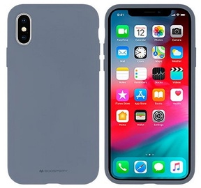 Mercury Soft Touch Matte Back Case For Apple iPhone XS Max Lavander Grey