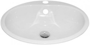 Alape Round Basin Enamelled Steel 475mm White