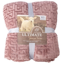 Home4you Ultimate XL Sherpa Throw Blanket 200x230cm Pink