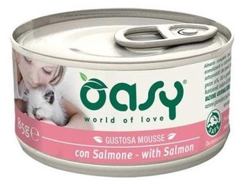 Oasy Adult Cat Wet Mousse w/ Salmon 85g