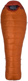Magamiskott Marmot Never Summer Long LZ Tangelo/Auburn, vasak, 224 cm