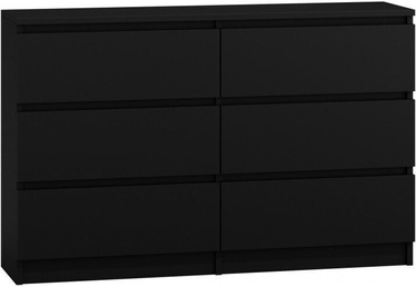 Комод Top E Shop M6 Malwa 6 Drawers 120cm Black