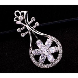 Vincento Brooch With Zirconium Crystal CD-1069