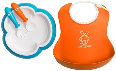 BabyBjorn Baby Feeding Set Orange/Turquoise 078082