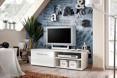 ТВ стол ASM Bono I White/White Gloss, 1200x450x350 мм