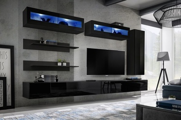 ASM Fly L2 Living Room Wall Unit Set Black