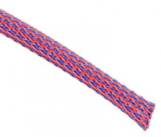 Techflex Flexo PET Sleeve 9mm Blue/Red 1m