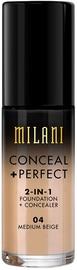 Тональный крем Milani Conceal + Perfect 2in1 Foundation + Concealer 04, 30 мл