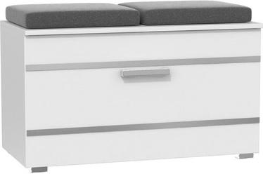 Шкаф для обуви Top E Shop Opal, белый, 850x350x450 мм