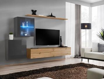 ASM Switch XV Living Room Wall Unit Set Wotan Oak/Graphite